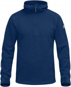 Fjällräven High Coast Wool Hoodie Männer Gr. XS - Wollpullover - blau
