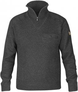 Fjällräven Koster Sweater Männer Gr. XXL - Wollpullover - grau|schwarz