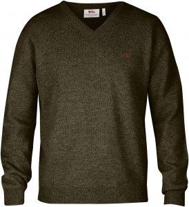 Fjällräven Shepparton Sweater Männer Gr. XS - Wollpullover - oliv-dunkelgrün
