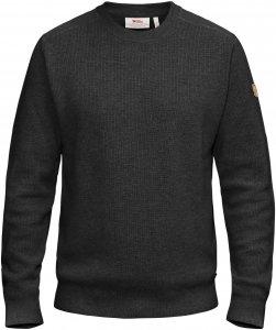 Fjällräven Sörmland Crew Sweater Männer Gr. M - Wollpullover - schwarz|grau