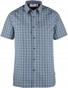 Fjällräven Svante Shirt SS Männer Gr. L - Outdoor Hemd - blau