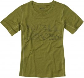 Fjällräven Trail T-Shirt Kinder Gr. 140 - Funktionsunterwäsche - oliv-dunkelgrün