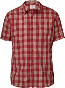 Fjällräven Övik Button Down Shirt S/S Männer Gr. S - Outdoor Hemd - rotbraun