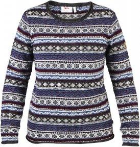 Fjällräven Övik Folk Knit Sweater Frauen Gr. S - Wollpullover - blau