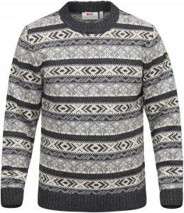 Fjällräven Övik Folk Knit Sweater Männer Gr. XXL - Wollpullover - grau