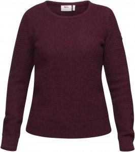 Fjällräven Övik Structure Sweater W Frauen Gr. L - Wollpullover - rotbraun