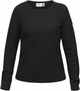 Fjällräven Övik Structure Sweater W Frauen Gr. XL - Wollpullover - schwarz grau