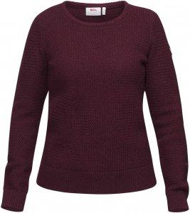 Fjällräven Övik Structure Sweater Frauen Gr. L - Wollpullover - rotbraun