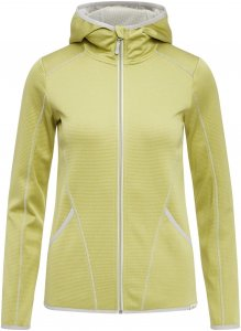 FRILUFTS Arica Hooded Fleece Jacket Frauen Gr. L - Fleecejacke - gelb|grün