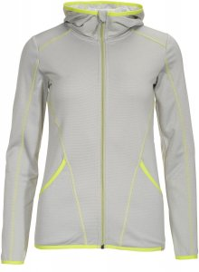 FRILUFTS Arica Hooded Fleece Jacket Frauen Gr. XS - Fleecejacke - grau|gelb