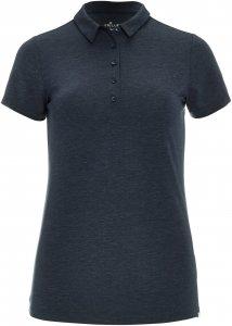 FRILUFTS Brea Polo Shirt Frauen Gr. S - Funktionsshirt - grau schwarz