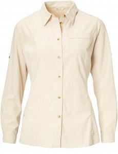 FRILUFTS Cabrera L/S Shirt Frauen Gr. 36 - Outdoor Bluse - beige-sand|weiß