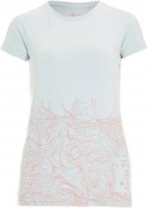 FRILUFTS Glarus Printed T-Shirt Frauen Gr. XS - T-Shirt - weiß pink-rosa