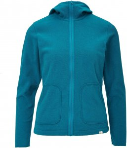 FRILUFTS Sanya Hooded Jacket Frauen Gr. 44 - Fleecejacke - blau petrol-türkis