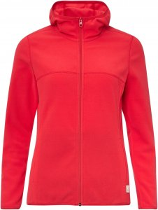 FRILUFTS Wulka Hooded Fleece Jacket Frauen Gr. 38 - Fleecejacke - rot