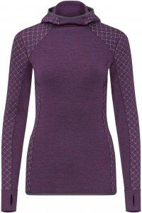 Icebreaker Affinity Thermo Hooded Pullover Frauen Gr. L - Kapuzenpullover - lila