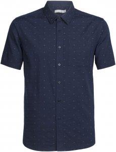 Icebreaker Compass SS Shirt Männer Gr. S - Outdoor Hemd - blau