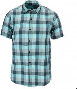 Icebreaker Departure II S/S Shirt Plaid Männer Gr. S - Outdoor Hemd - blau
