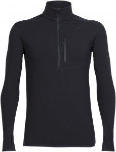 Icebreaker Descender LS Half Zip Männer - Funktionsshirt - schwarz