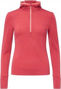 Icebreaker Rush LS Half Zip Hood Frauen - Funktionsshirt - pink-rosa