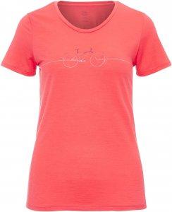 Icebreaker Tech Lite SS Low Crewe Cadence Frauen Gr. S - Funktionsshirt - rot|pink-rosa