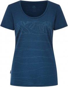 Icebreaker Tech Lite SS Scoop Paths Frauen Gr. S - Funktionsshirt - blau