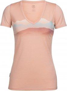 Icebreaker Tech Lite SS V Misty Horizon Frauen Gr. XL - Funktionsshirt - pink-rosa