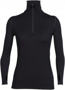 Icebreaker Tech Top LS Half Zip Frauen Gr. XL - Funktionsshirt - schwarz