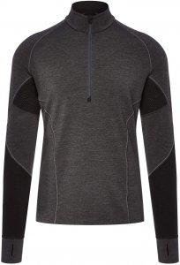 Icebreaker Winter Zone LS Half Zip Männer Gr. XL - Funktionsshirt - grau|schwarz