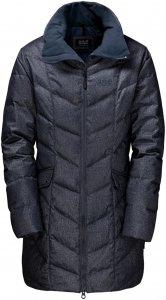 Jack Wolfskin Baffin Bay Coat Frauen Gr. M - Daunenmantel - blau|schwarz