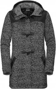 Jack Wolfskin Belleville Coat Frauen Gr. S - Fleecejacke - schwarz|grau