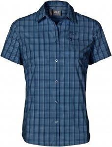 Jack Wolfskin Centaura Stretch Vent Shirt Frauen Gr. M - Outdoor Bluse - blau