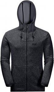 Jack Wolfskin Finley Jacket Männer Gr. XXL - Fleecejacke - schwarz grau