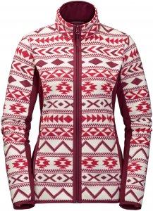 Jack Wolfskin Hazelton Flex Jacket Frauen Gr. L - Fleecejacke - rot|weiß