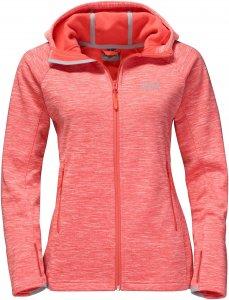 Jack Wolfskin La Cumbre Trail Jacket Frauen Gr. XL - Fleecejacke - rot|pink-rosa