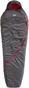 Jack Wolfskin Smoozip -7 Unisex - Kunstfaserschlafsack - Gr. 190 cm - grau|rotbraun - 3-Jahreszeiten-Schlafsack