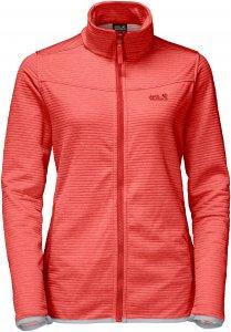 Jack Wolfskin Tongari Jacket Frauen Gr. XL - Fleecejacke - rot