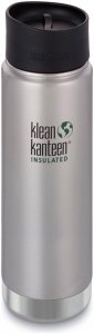 Klean Kanteen Wide Vacuum Insulated (mit/Café Cap 2.0) - Thermobecher - grau