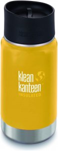 Klean Kanteen Wide Vacuum Insulated (mit/Café Cap 2.0) - Thermobecher - gelb
