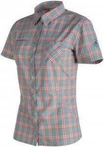 Mammut Alessandria Shirt Frauen Gr. S - Outdoor Bluse - petrol-türkis|weiß
