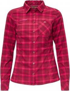 Mammut Alessandria Tour Longsleeve Shirt Frauen Gr. L - Outdoor Bluse - rot|pink-rosa