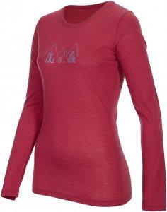 Ortovox 150 Merino Cool L/S Ridge Print Frauen Gr. XS - Funktionsunterwäsche - pink-rosa rot