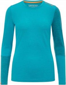 Ortovox 185 Rock`n Wool Long Sleeve Frauen - Funktionsshirt - petrol-türkis blau