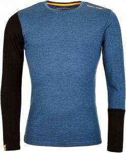 Ortovox 185 Rock 'N' Wool LONG SLEEVE Männer Gr. XL - Funktionsshirt - blau