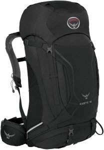 Osprey Kestrel 48 - Tourenrucksack - Gr. M/L - schwarz - Wanderrucksack
