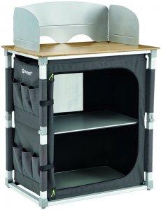 Outwell Padres Kitchen Table W/Bamboo Table Top - Campingtisch - schwarz - Falttisch