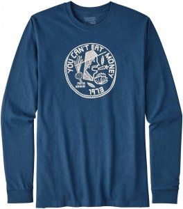 Patagonia L/S Can't Eat Money Cotton/Poly Responsi Männer Gr. M - Sweatshirt - blau