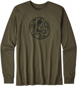 Patagonia L/S Can't Eat Money Cotton/Poly Responsi Männer Gr. M - Sweatshirt - oliv-dunkelgrün