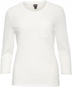Patagonia Mainstay 3/4 Sleeved Top Frauen Gr. XS - Langarmshirt - weiß