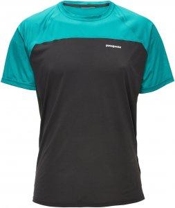 Patagonia S/S Windchaser Shirt Männer Gr. XS - Funktionsshirt - schwarz grün